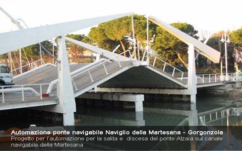 Progetto per l'utomazione ponte Naviglio