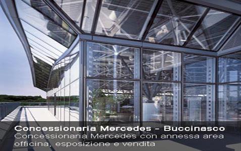 Progettazione impianto elettrico concessionaria Mercedes