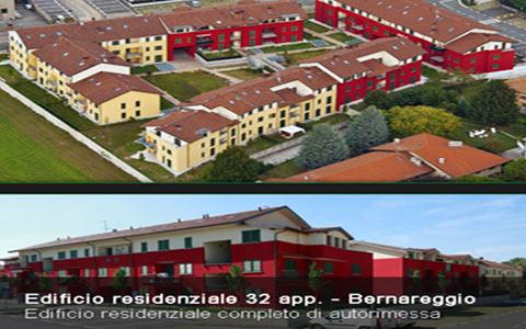 Progettazione impianto elettrico edificio residenziale Bernareggio